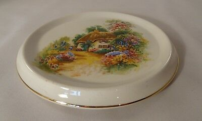 Vintage Arklow Pottery Country Cottage 16cm Teapot Stand c1950 VGC