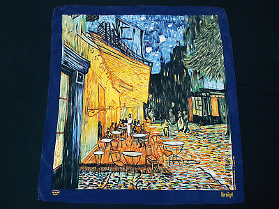 Codello VINCENT VAN GOGH COFFEE AT NIGHT  100% Silk Scarf
