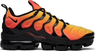 e3c5b617246 NIKE AIR VAPORMAX Plus Sunset Black Total Orange VM Max Tuned 924453 ...