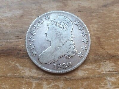 1830 Capped Bust Half Dollar  @@ must see @@@