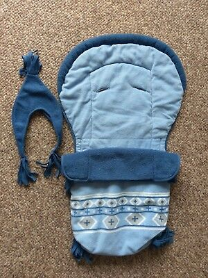 Gorgeous Blue Cosytoes with Hand Warmer & Matching Hat NEW