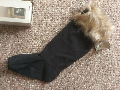 Gorgeous   Fur Topped Fleece Welly Socks (to fit adults shoe size 3-5) NEW