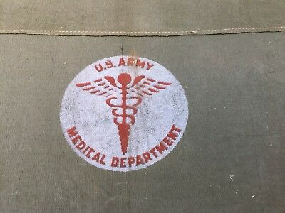 1943 WWII Military US Army MEDICAL DEPARTMENT Litter Canvas