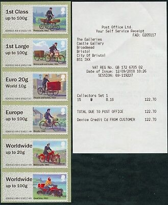 New Ncr Type Iia Bristol Mail By Bike Collector Strip Fdi Sept 12 Post & Go