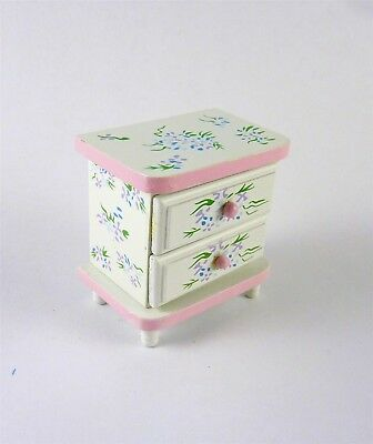 Discontinued Dollhouse Miniature Painted Small Dresser, EMWF626