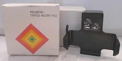 Polaroid Instant Film SX-70 Camera #111 Tripod Mount +Box  Camera TESTED
