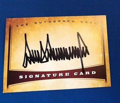 President Donald Trump #45 Signed 100% Authentic Signature Card Autograph