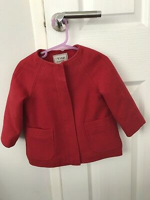 Baby Girl Next Red Coat 12-18 Months