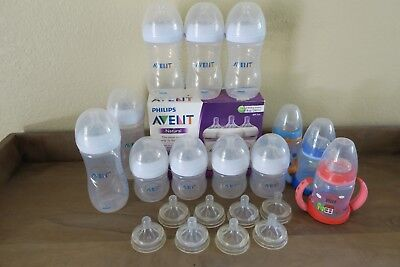 Philips Avent Natural Baby Bottles 4, 9. 11 oz & Size 0, 1, 2, 3, 4 nipples