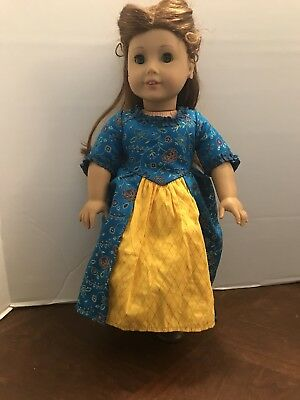 American Girl Lot Felicity Doll Carrying Bag Books and clothing items