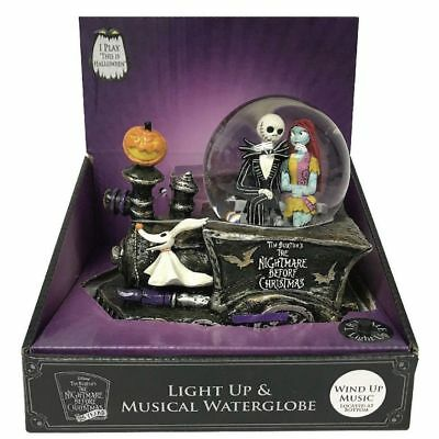 nightmare before christmas jack zero musical snow globe train 25th anniversary - Nightmare Before Christmas Snow Globes