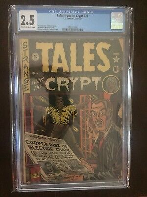 Tales From The Crypt #21 CGC 2.5 Rare! Displays Well!