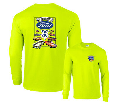 Ford Genuine Parts V8 Mustangs Long Sleeve T-Shirt
