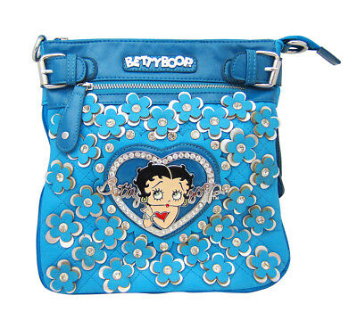 Betty Boop Blue Leather Hip Bag Cross Body Purse