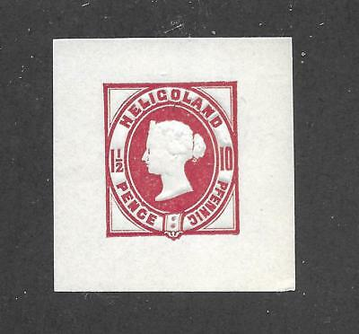 Hick Girl Stamp- Mint Cut Square Envelope  Heligoland  Stamp        X561