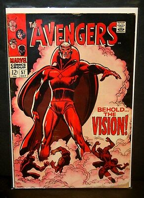 "Marvel comics the Avengers 1st Appearance of Vision # 57 ""fair"""