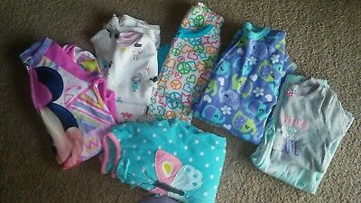 Girls 4T Pajama Lot 6 Sets/ footed Winter thermal children's place Disney carter