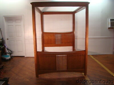 48632:Stickley Solid Cherry Queen Size Canopy Bed