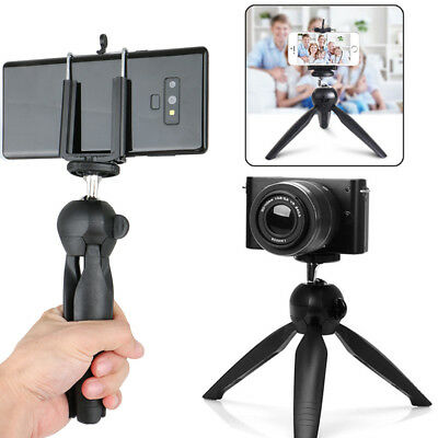 Rotating Camera Tripod Stand Mount + Phone Holder for CellPhone iPhone Samsung