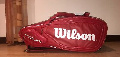 Wilson Tour red 3 compartment tennis bag