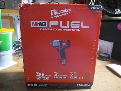 "Milwaukee 2860-20 M18 Fuel Mid-Torque 1/2"" Pin Detent Wrench! New! Free Shipping"