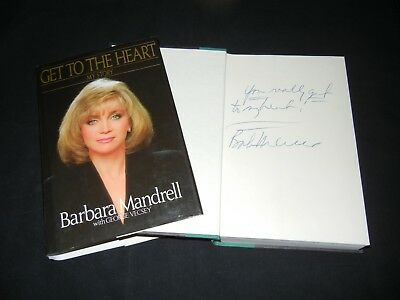 "BARBARA MANDRELL Signed Autograph ""GET TO THE HEART"" Book Country Music STAR!"