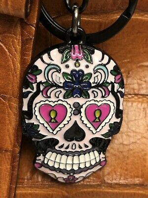 Halloween Enamel Dead Sugar Skull  Key Ring/Purse Charm/ Key Chain/ Zipper Pull