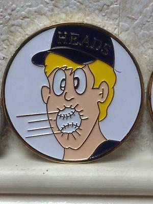 Umpire Baseball Tournament Flipping Coin Fun Humorous Edition Free Shipping