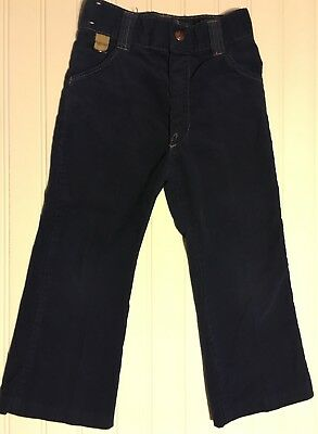 Boys Vintage Pants Billy the Kid Dark Blue Corduroy See Measurements