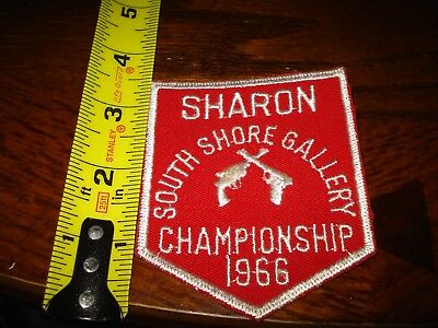Sharon Mass South Shore Gallery CHAMPIONSHIP PATCH 1966 Red