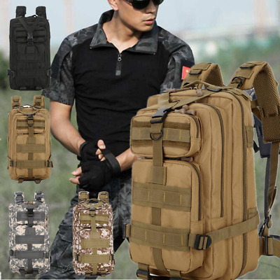 30L 3P Military Tactical Backpack Outdoor Army Survival Assault Bag Wolf Brown