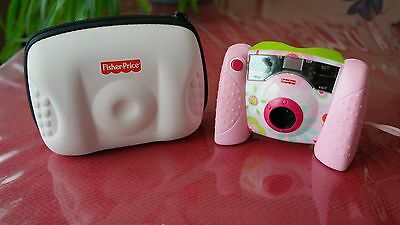 Fischer Price Kids Tough Digital Camera w/Case & SD Memory Card-Pink L8341/L834