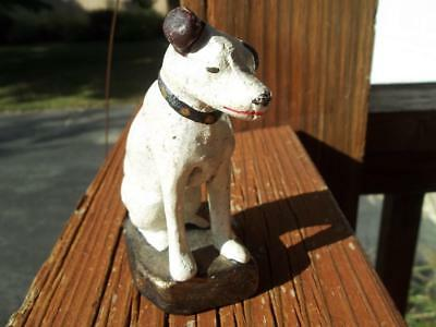 Cast Iron Rca Victor Advertising Nipper Dog Radio Figurine Paperweight