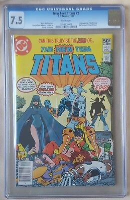 New Teen Titans #2 CGC 7.5 1st appearance of Deathstroke 1980 KEY