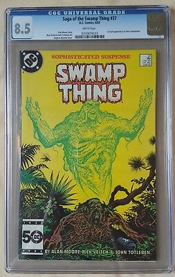 Saga of the Swamp Thing #37 CGC 8.5 1st appearance of John Constantine KEY