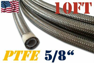 "An-12  -12An 5/8"" 16Mm Stainless Steel Braided Teflon Fuel Oil Hose E85- 10Ft"