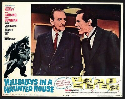 HILLBILLYS IN HAUNTED HOUSE Lobby Card (Good) 1967 Herlin Husky Sci-Fi 15886
