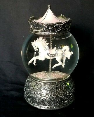 "Things Remembered ""The Carousel Waltz"" Horse Musical Snow Globe  SOPHIA Engraved"