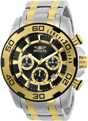 Invicta Men's Pro Diver Quartz Chrono 100m Two Tone Stainless Steel Watch 22322