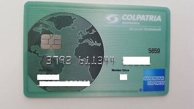 Colombia - American Express - Expired - Credit Card - Colpatria - Rare