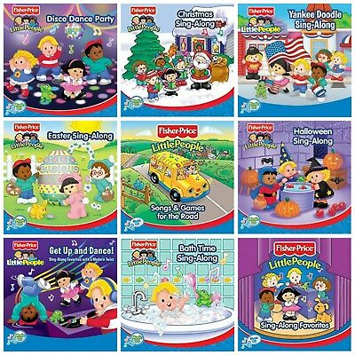 9 new FISHER-PRICE CD LOT kids music Easter Sing-Along,Christmas,Disco,Halloween