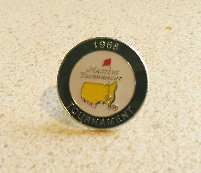 U.s. Masters 1968  Won By Bob Goalby  Stemmed Golf Ball Marker & Case