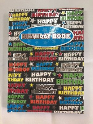 Birthday Book Star Black Special Dates 145mm X 110mm OzCorp