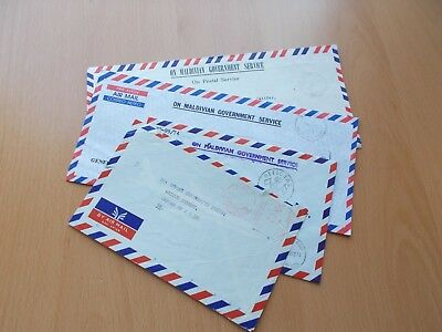4 x Maldives Commercial Airmail Covers. See Pics for Info.