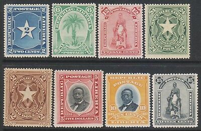 Liberia 1892-96 8 values. Scarce & Rare. MNH 60+ Euro Rare!