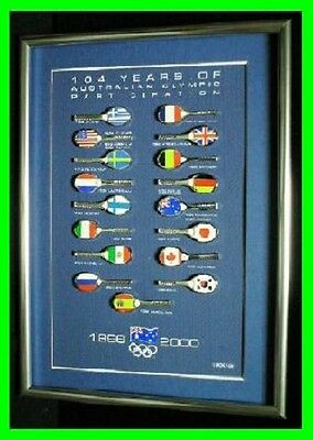 651# * SYDNEY 2000 OLYMPIC GAMES * 104 Years Of Participation Tennis Racket Set