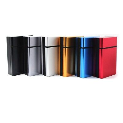New Aluminum Pocket Metal Cigarette Tobacco Cigar Case Holder Container Pack Box