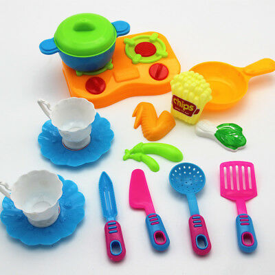 18pcs Kids Pretend Role Play Toy Kitchen Fruit Food Toy Set Gift Toy Xmas Gifts