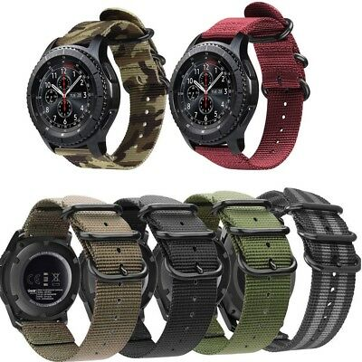 For Samsung Galaxy Watch 46mm SM-R800/SM-R805 Sport Watch Band Woven Nylon Strap