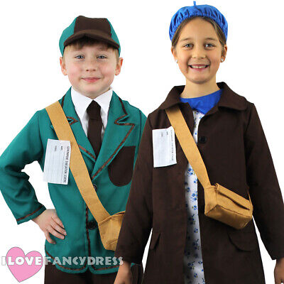 Childs 1940S Costume World War 2 Wartime Ww2 Kids Fancy Dress Outfit 1930S